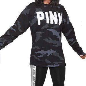 VS Pink Camouflage Campus Shirt